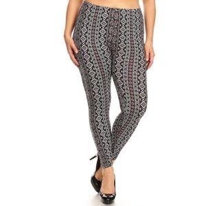 Pants - Plus size boho print leggings💕coming